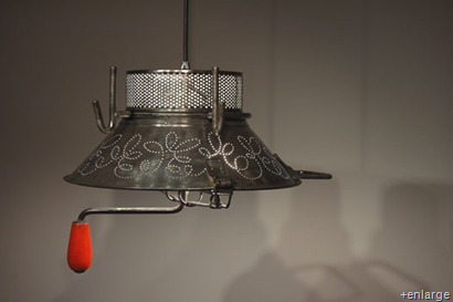 "Colander lamp by French designer ""Garbage"""