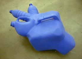 Untitled, plastic bottle with Bondo glue and paint, 2000