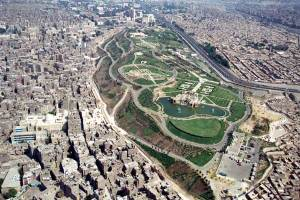 Al-Azhar Park in Cairo, once a rubble dump