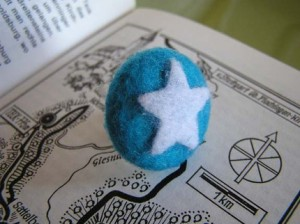 recycled felt ring by The Garbologist's Wife