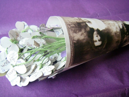 PJ Harvey upcycled album bouquet via scribblenation on Flickr