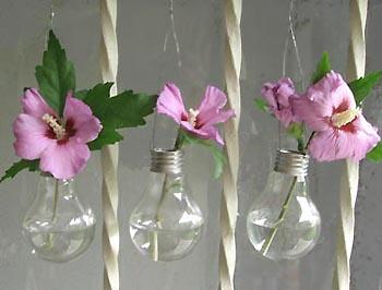 Lightbulb vases from esprit cabane