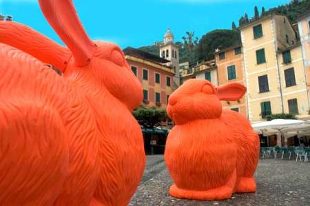 The Big Rabbits in Portofino, Italy via GreenMuse