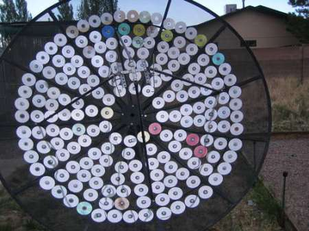 What to do with an old satellite dish and those now-obsolete things called CDs